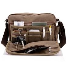 Высокий! холщовый почтальона сумочки masculina bolsa покроя свободного crossbody плеча многофункциональный