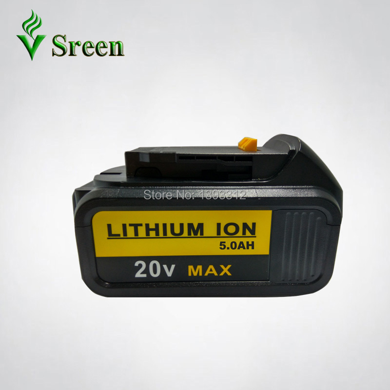 5000mAh Lithium Ion Power Tool Rechargeable Battery Replacement for DEWALT 18V DCB180 DCB181 DCB182 DCB200 DCB201 DCB203 DCB204 5000mah 20v lithium ion power tool rechargeable battery replacement for dewalt 20v dcb181 dcb180 dcb182 dcb200 dcb201 dcb203
