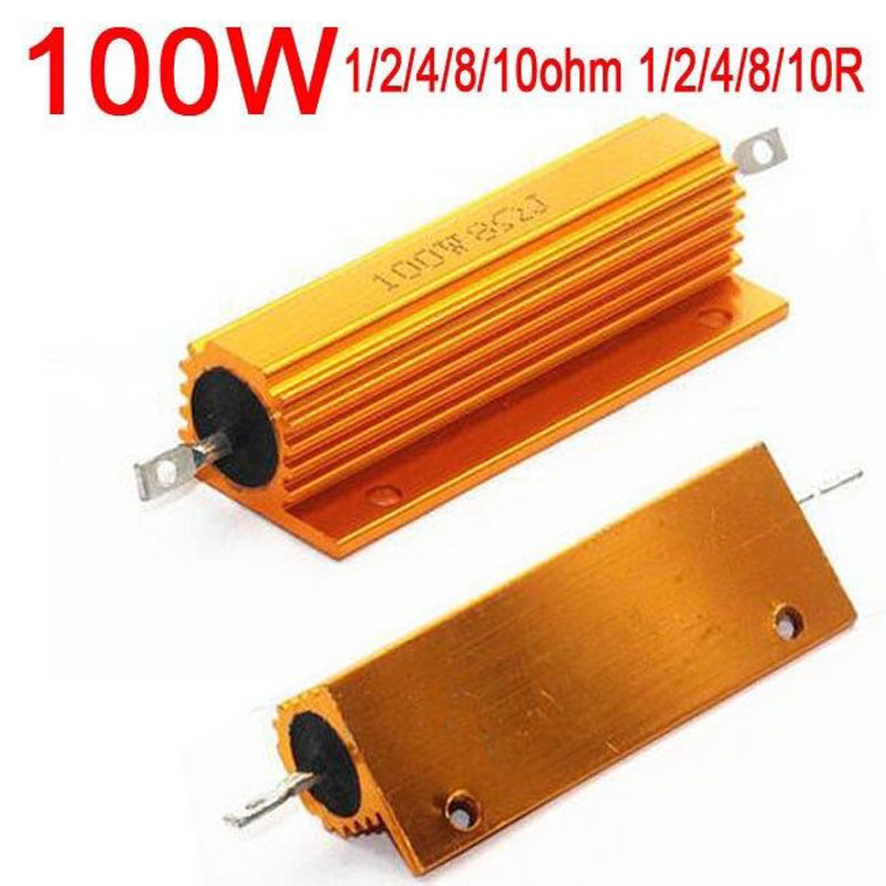 DYKB <font><b>100W</b></font> Watt 1ohm 1R 2ohm 2R /4 ohm 4R / <font><b>8ohm</b></font> 8R 10ohm 10R Power Metal <font><b>resistor</b></font> for tube amp test dummy Load Amplifier image
