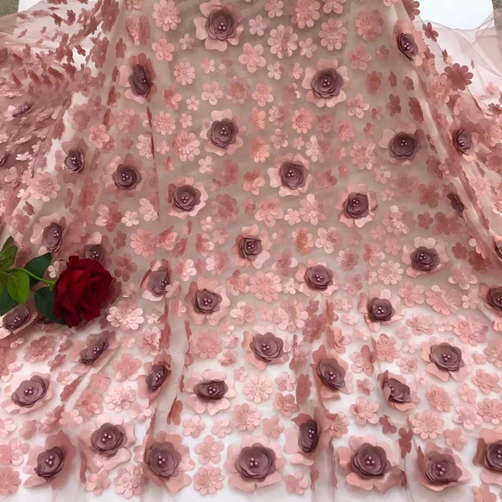 High Quality French Mesh Lace Fabric 2018 Latest African Appliqued Lace Fabric For Wedding DressesHigh Quality French Mesh Lace Fabric 2018 Latest African Appliqued Lace Fabric For Wedding Dresses