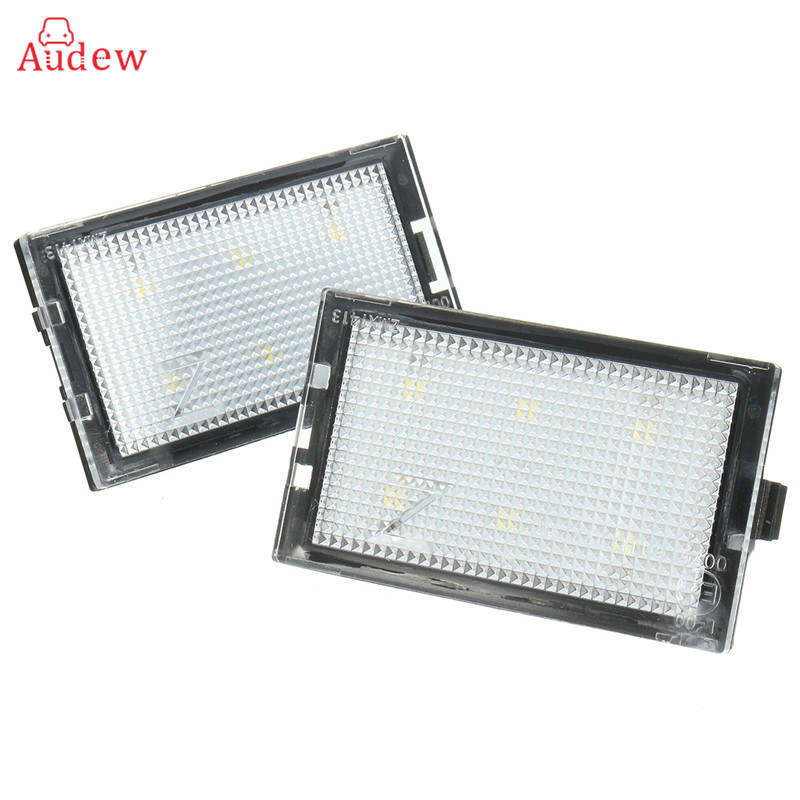 2x LED License Plate Light Number Plate Lamp For Land Range Rover/Discovery/Freelander LR2 for land rover range rover sport freelander 2 discovery 4 2006 2014 car styling led fog lights lamp crystal blue blue 12v