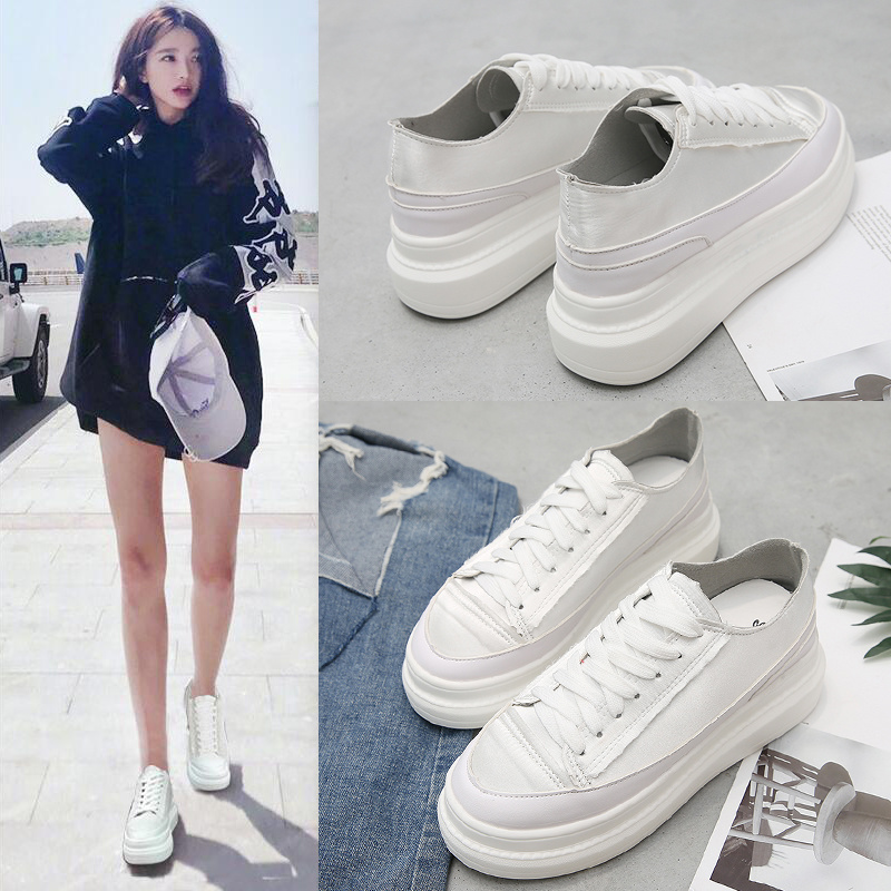 GYP 2019 New Sneakers White Shoes Women Platform Sneakers Lady footware Cross-tied Female zapatos de mujer MA-179GYP 2019 New Sneakers White Shoes Women Platform Sneakers Lady footware Cross-tied Female zapatos de mujer MA-179