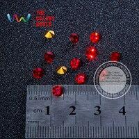 011 3D Czerwony Kolor Gem Kształt Jasne Brokat Shinny Kryształu Diamentu dla Nail Art Cyrkonie Dekoracje DIY
