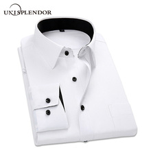 2019 New Arrived Striped Twill Men Dress Shirts Mens Work Sh