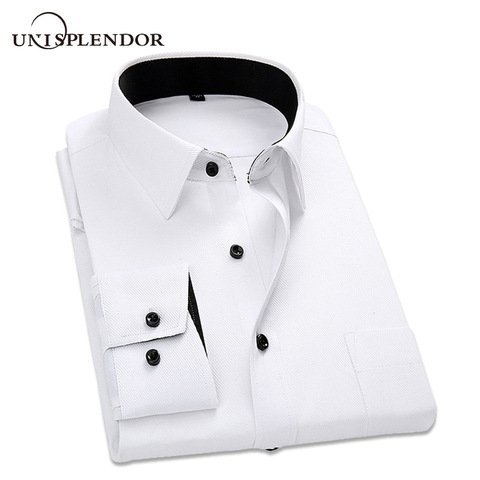 2019 New Arrived Striped Twill Men Dress Shirts Mens Work Shirts Brand Long Sleeve White Male Shirts 4xl Business Shirts YN10183 Pakistan