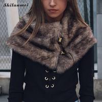 Winter Warm Kunstmatige Bontkraag Womens Sjaals Faux Bontjas Sjaals Kraag Luxe Artikel Nep Nek Kraag Sjaals