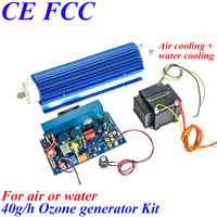 To Japan Pinuslongaeva 40g/h Quartz tube type ozone generator Kit home water air ozonator ozone odor eliminator