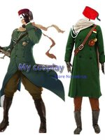 Axis Power Hetalia Turkish Military Uniform Cosplay Costume For Men Green Army Coat With Hat Costumes For Halloween Dress
