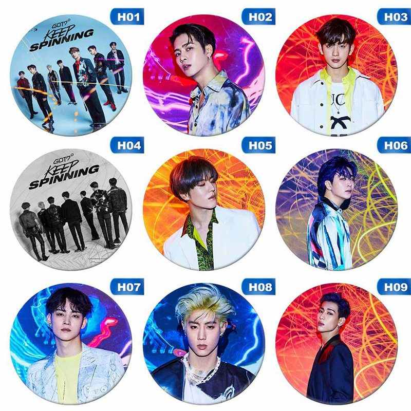 Kpop GOT7 Hard Carry หน้าอก Pin Jackson Bambam เข็มกลัด JB JR Mark Youngjae Badge 2019