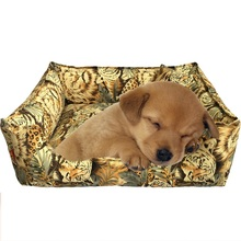 Animal pattern Dog Bed & Sofas Pet kennel cotton canvas Teddy nest Pillow and cover included