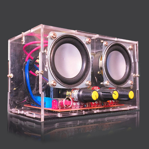Small Amplifier Two Channel Speaker Audio Kit TDA2030 Mini Electronic DIY Production Parts Assembly Module Karachi