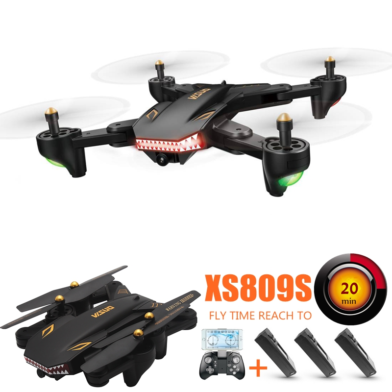 Fpv Drones With Camera Wifi Quadcopters Long Time Flying Camera Dron Rc Helicopter Remote Control Toys For Kids Xs809s Copters