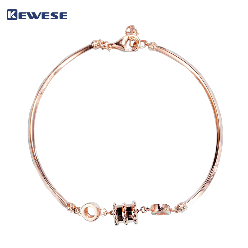 18k rose gold small waist half bracelet bracelet (gold weight ± 3.7g), fashion hot