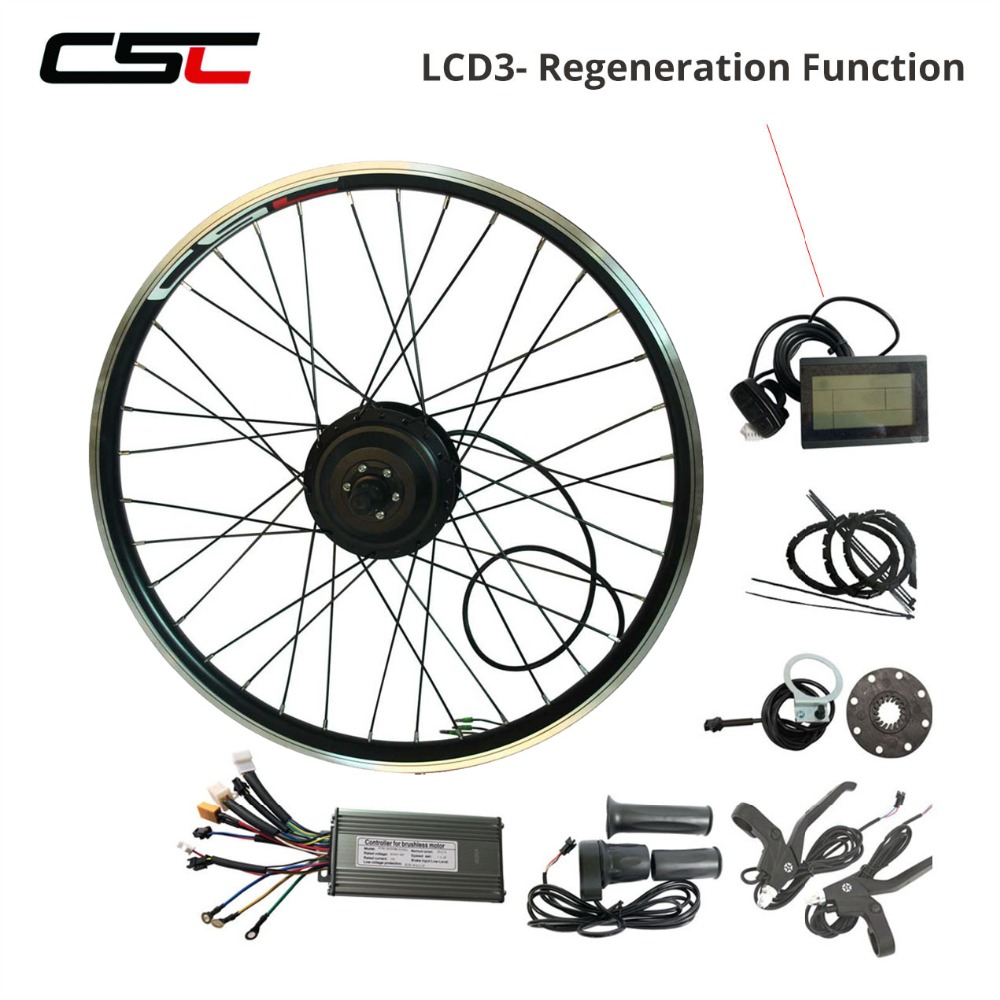Front Electric Bike Conversion Kit 36V 250W 350W 500W Hub Motor 20 24 26 Inch E