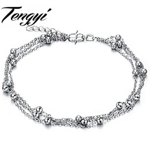 TENGYI Free Shipping White Gold Color Anklet Fashion Jewelry Classic Anklet Wholesale Factory Price Popular Factory Price 206