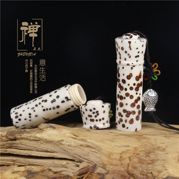 Natural incense appliance thousand eyes Bodhi sachets butterfly bamboo powder cylinder tube WenWan Incense Gift Collection