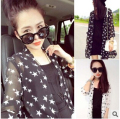 Fashion Star Style Women Sun Protection Clothing Female Chiffon Long-sleeve Air Conditioning Plus Size beach cover ups