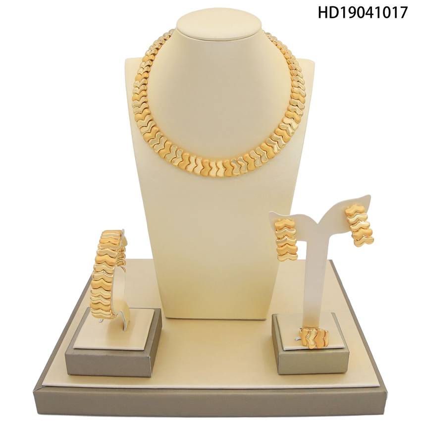 Yulaili New Listing African Jewelry Set Small Leaves Rounded Luxury Wedding Jewelry Sets For Brides Women Costume SetYulaili New Listing African Jewelry Set Small Leaves Rounded Luxury Wedding Jewelry Sets For Brides Women Costume Set