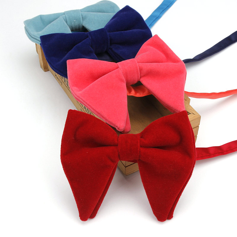 Men's Accessories Adjustable Classic Solid Flannelette Cotton Bowtie 11.5*9cm Butterfly Tuxedo Wedding Holiday Party Man Bow Tie Warm And Windproof