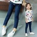 2017 детей Джинсы для девочек джинсовые брюки рваные джинсы для детей