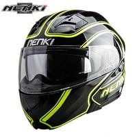 NENKI Motorcycle Helmet Men Women Motorbike Flip Up Modular Helmet Motorbike Street Moto Full Face Helmet