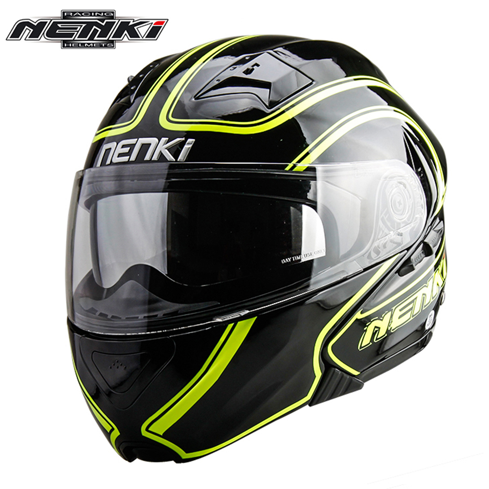 NENKI Motorcycle Helmet Men Women Motorbike Flip Up Modular Helmet Motorbike Street Moto Full Face Helmet with DOT Certification nenki motorcycle helmets motocross racing helmet motorbike full face helmet capacete de moto for men and women 13 color