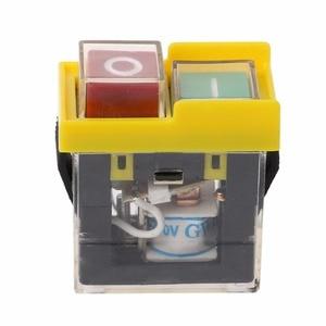 Image 3 - AC 250V 6A IP54 עמיד למים אלקטרומגנטית לחיץ מכונת מסור חותך תרגיל על Off מתג בטיחות
