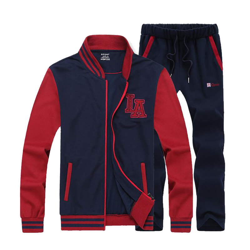 ФОТО Plus Size  8XL Men's gym training sport cloths running sets fitness tight long-sleeved shirt + pants 2 pcs Training suit