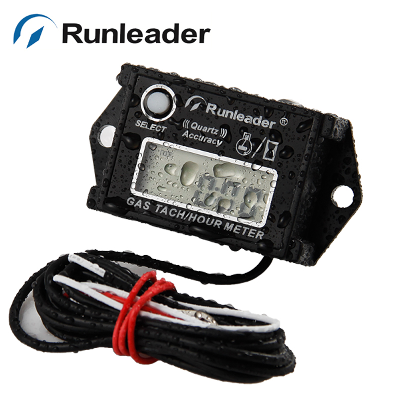 Resettable tach hour meter RPM meter for gasoline motorcycle ATV snowmobile pit bike jet ski boat glider go cart marine chainsaw