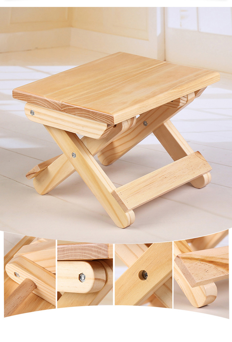 Small Stool Chair Us 18 99 50 Off Portable 24x19x17 8 Cm Beach Chair Simple Wooden Folding Stool Outdoor Furniture Fishing Chairs Modern Small Stool Camping Chair In