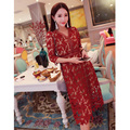 Автопортрет платье новый 2016 дамы летнее платье белый/красный/вино/фиолетовый кружева крючком платье выдалбливают v-образным вырезом элегантное платье ПРОДАЖА