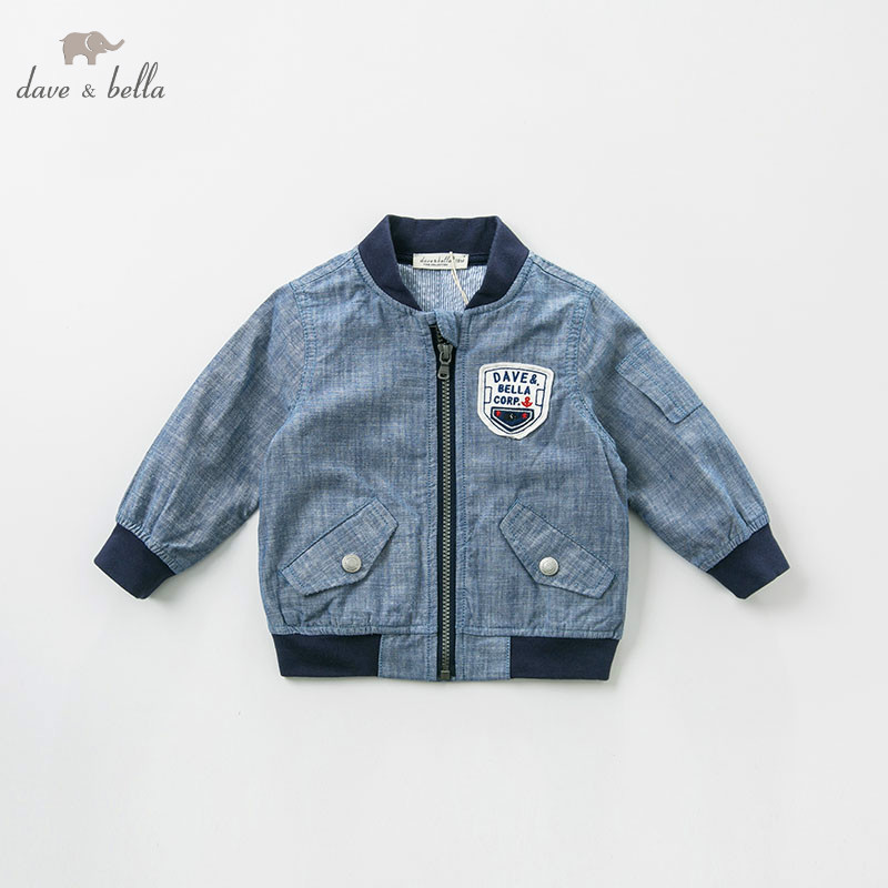 DB9955 dave bella spring baby boys fashion coat children tops infant toddler high quality coat