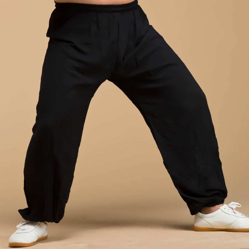 Spring And Summer Synthetic Cotton Tai Chi Pants Kung Fu Bloomers Both Men And Women