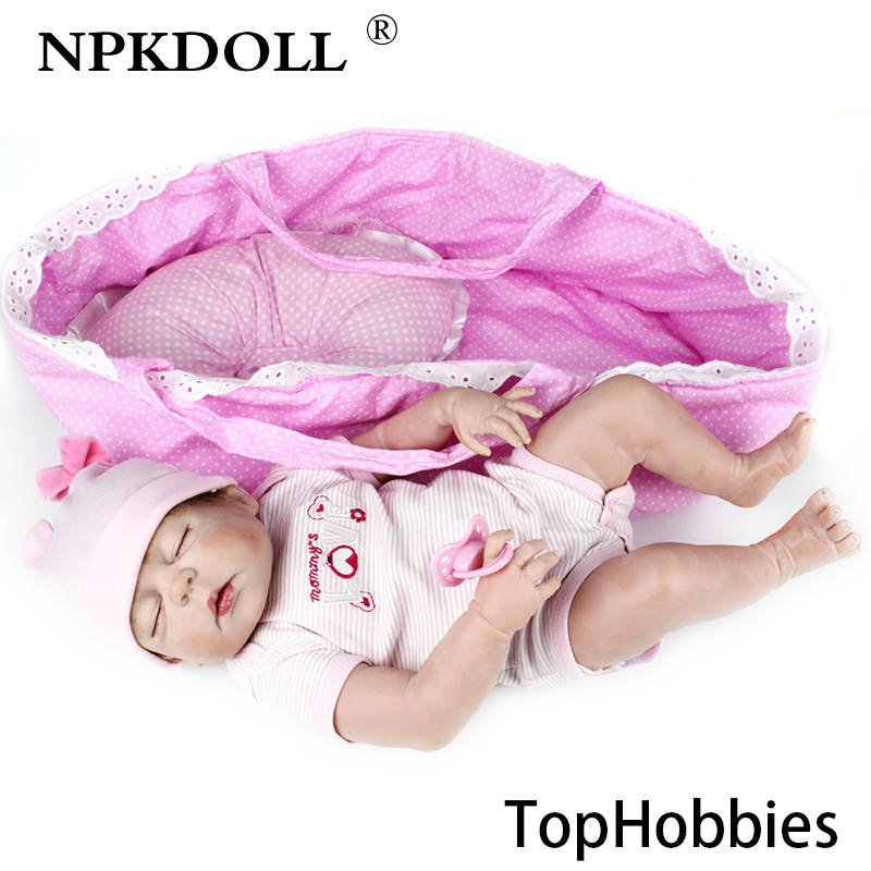 G209 NPKDOLL 22 Inch 55cm Full Plastic Soft Simulation Baby Toys Can Sit and Lie Reborn Doll As Gift Can Bath In The Water as lie the dead page 3