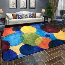 Современные красочные бесконечные ковры для гостиной, дома, простые коврики для спальни, дивана, журнального столика, напольный коврик, ковер для учебы