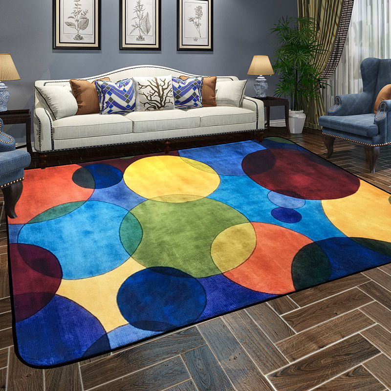 Colorful Modern Coffee Table: Modern Colorful Endless Carpets For Living Room Home