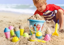 Kids Baby Beach Sand Toys Small Cake Mould Spoon Ice Cream Pudding Play and Snow