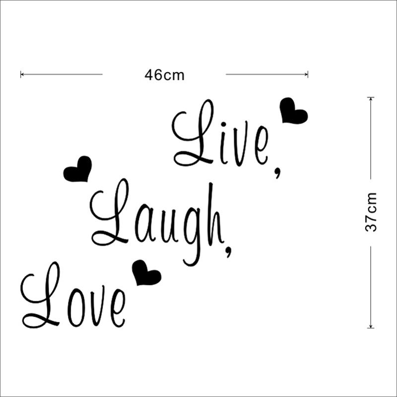 Live Laugh Love Quotes | Live Laugh Love Quote Wall Stickers Home Decor Art Decal Sticker