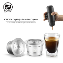 For Caffitaly Coffee Machine &Tchibo Cafeteira CA Mahinche Reusable Capsule STAINLESS STEEL Compatiable