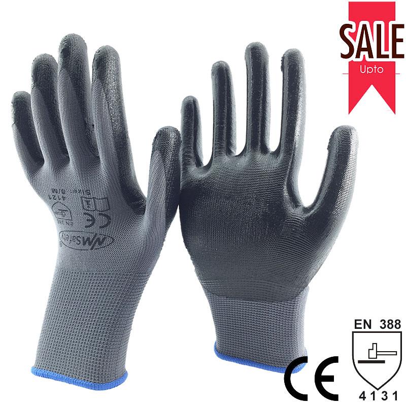 NMSafety mănuși de lucru din nitril pentru scufundare din nylon - Securitate și protecție - Fotografie 5