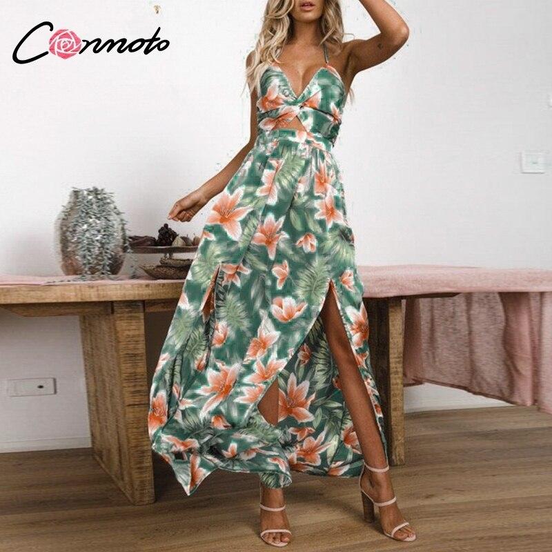 Conmoto Printed Party Maxi Dress L19DR1642