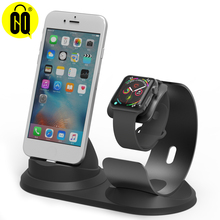 цена на For iPhone X Aluminum desk phone holder base for iPhone 8/7/6S Charging dock station for Apple Watch charger stand table support