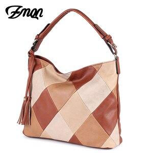 Image 3 - ZMQN Luxury Handbags Women Bags Designer Casual Tote Shoulder Bag For Women 2020 Patchwork Ladies Hand Bags PU Leather Big C861