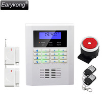 Free Shipping Wholesale Wireless PSTN GSM Alarm System Quad Band 850 900 1800 1900MHZ With LCD