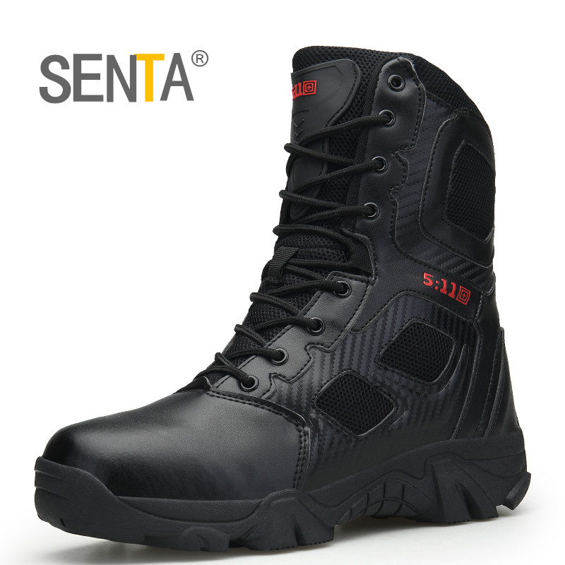 Outdoor Men Hiking Shoes Waterproof Special Forces Camping Shoes Men s Desert Military Tactical Boots Breathable
