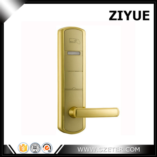 Hotel lock hotel card reader door lock hotel security lock with software ET915RF-g high security sliver golde smart hotel lock digital door lock with hidden rfid card reader