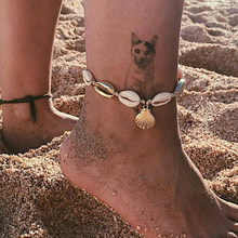 New Anklets for Women Shell Foot Jewelry Summer Beach Barefoot Bracelet Ankle on Leg Female Ankle Strap Bohemian Accessories(China)