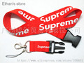 ONE PC Red Supreme ID Badge Key Lanyard  Mobile Keychains Neck Straps Mix Color