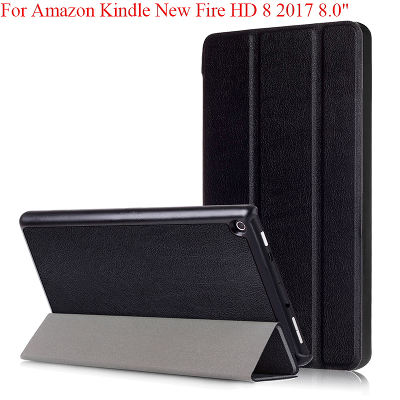 Custer Smart Protective Cover Case For Amazon Kindle Fire HD 8 Tablet 2017 Release Smart For All New Fire Hd 7th Generation Skin