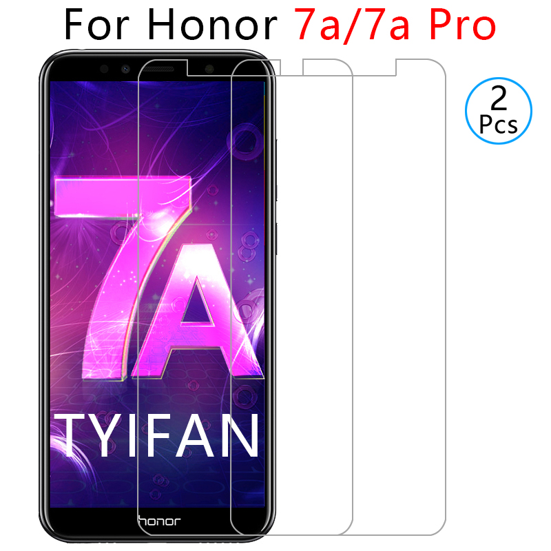 2pcs Tempered Glass On Honor 7a Pro Protective Glass Screen Protector For Huawei Honor7a 7 A A7 7apro Safety Tremp Phone Film 9h